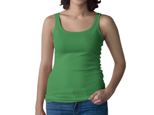 Green Women's Racerback Tank Top