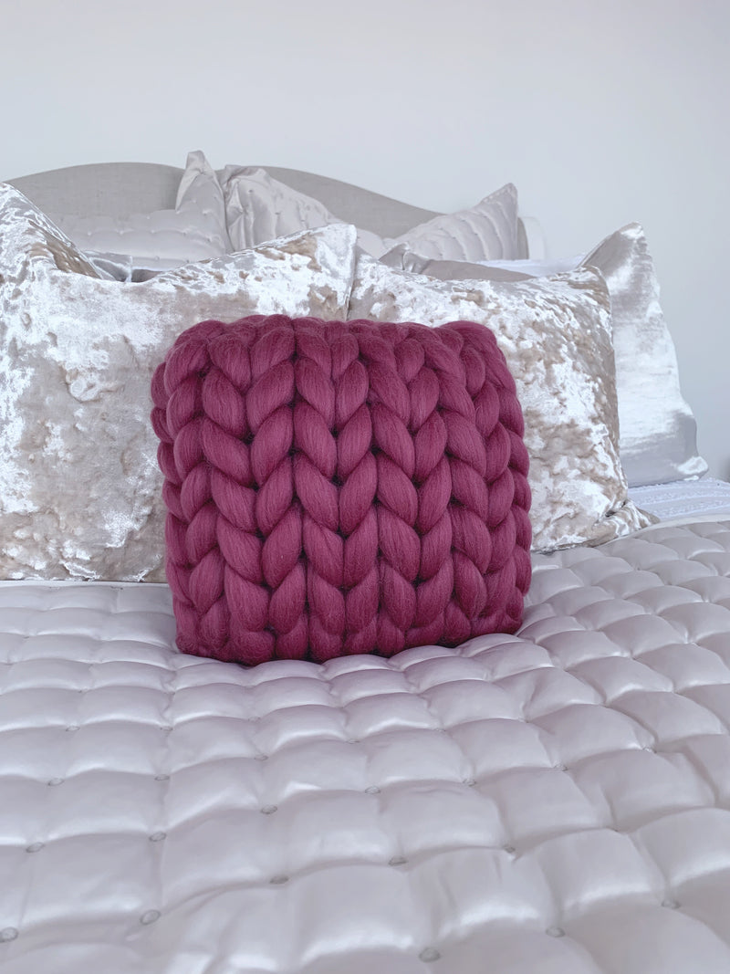 Merino Cushion (Mulberry)