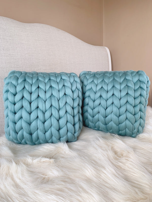 Merino Cushion Small (Teal)