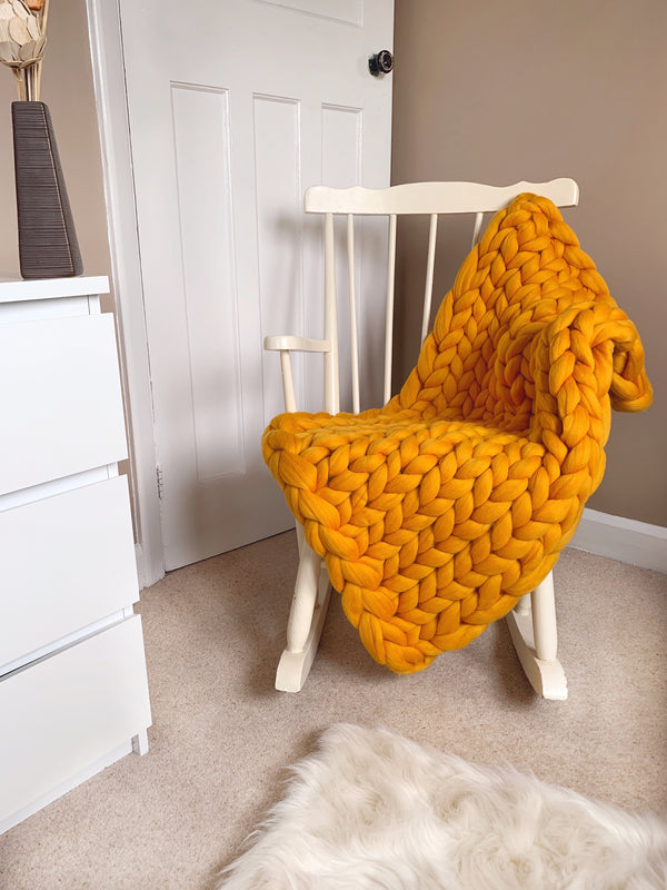 Merino Chunky Knit Blanket (Showpiece)