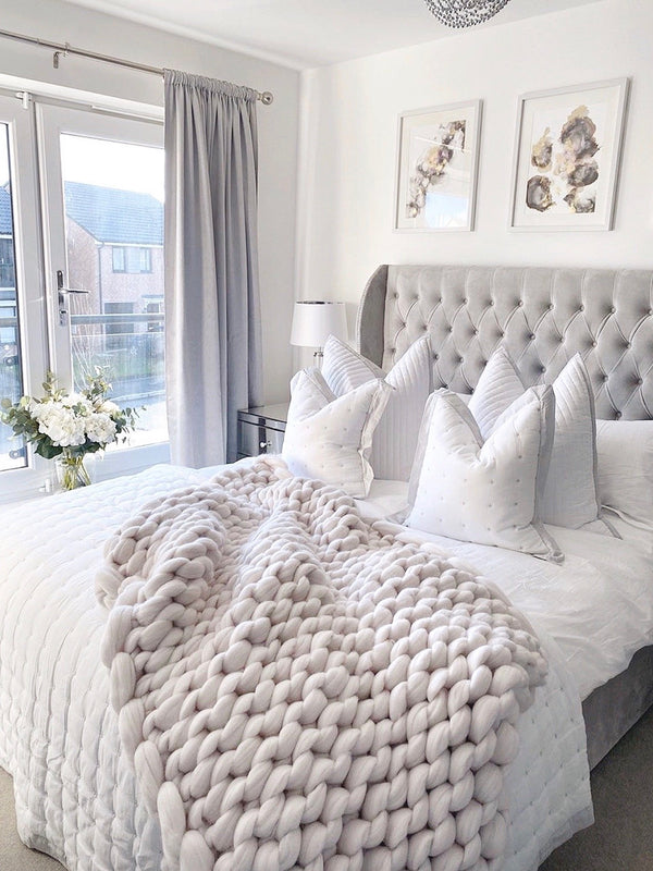 Merino Chunky Knit Throw (Double)