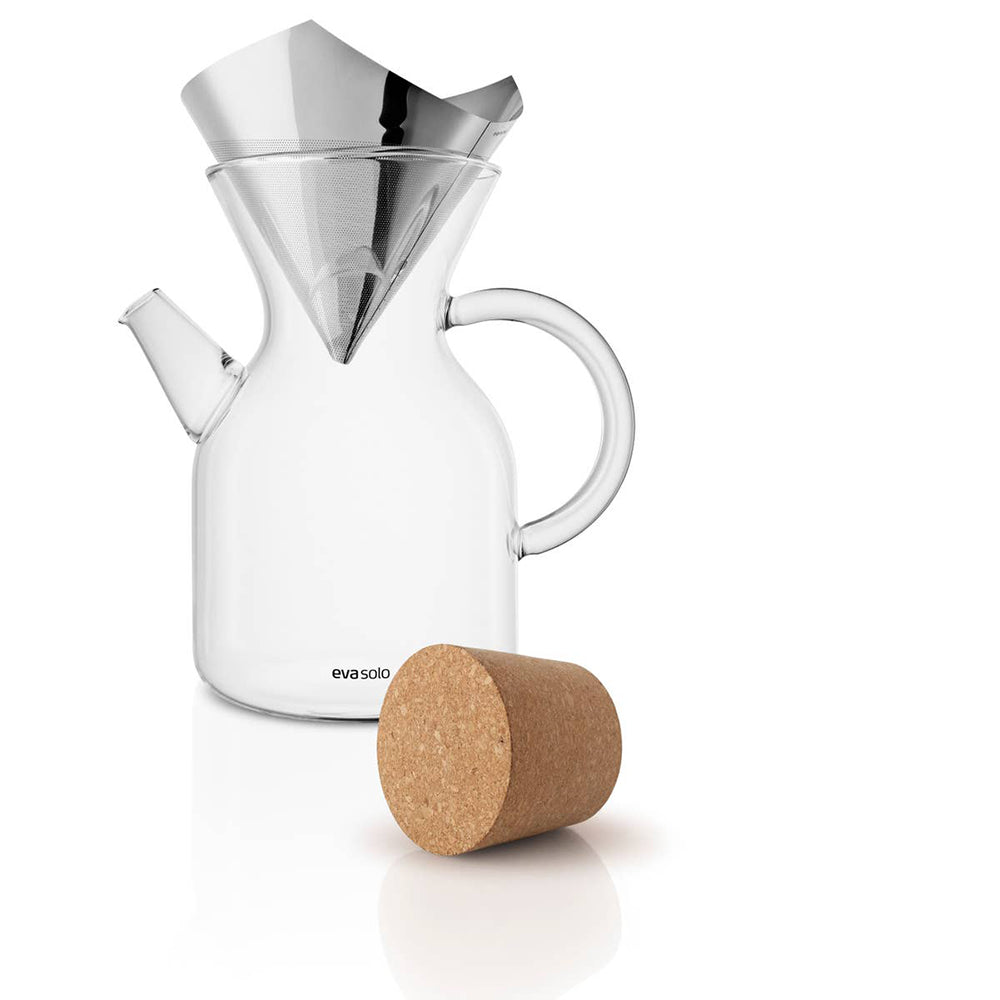 Eva Solo Pour-Over Coffee Maker 1.0 Liter <br>手沖金屬濾網玻璃咖啡壺