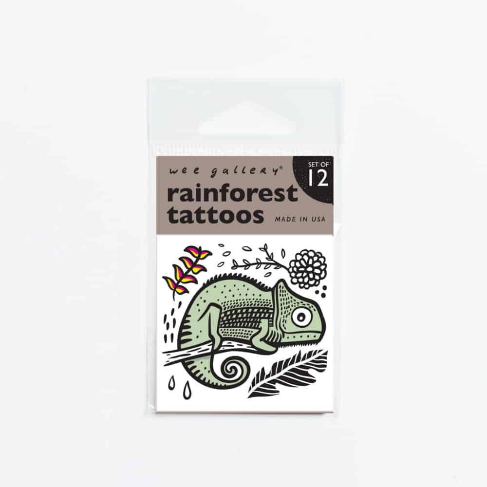 Wee Gallery Rainforest Temporary Tattoo <br> 熱帶雨林動物可洗紋身