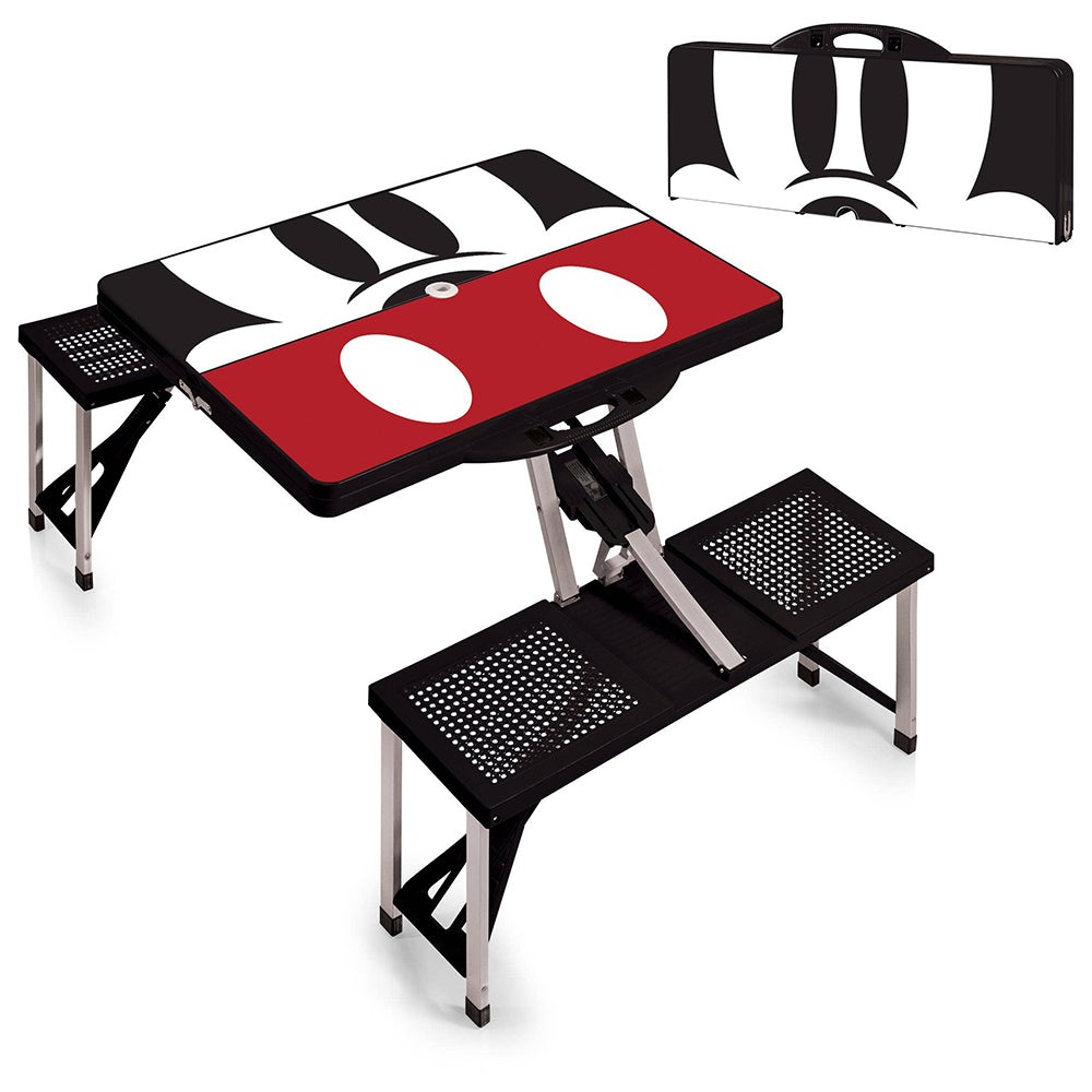 Picnic Time Family of Brands Mickey Mouse Portable Picnic Table with Seats <br> 米奇老鼠便攜式野餐桌椅