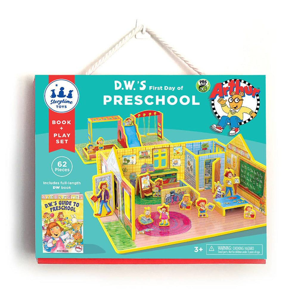 Storytime Toys - D.W.'s First Day of Preschool Book and Play Set <br> 兒童圖書和遊戲套組 - D.W. 第一天去上學
