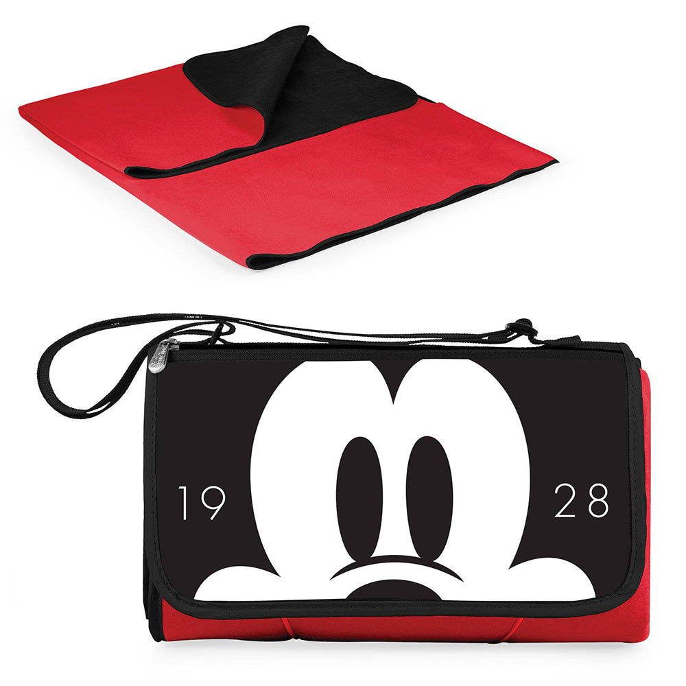 Picnic Time Family of Brands Mickey Mouse Picnic Blanket Tote <br> 米奇老鼠便攜式野餐毯