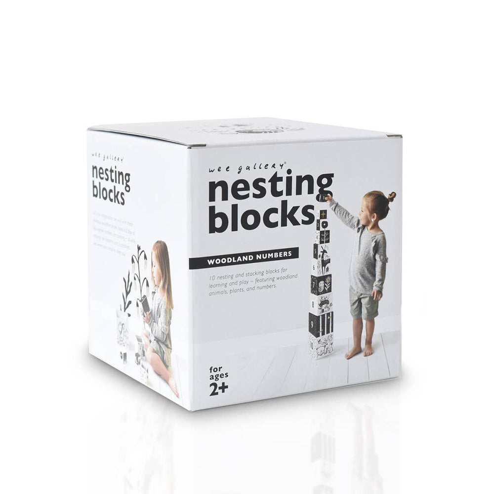 Wee Gallery Nesting Blocks - Woodland Numbers <br> 叢林數字方塊