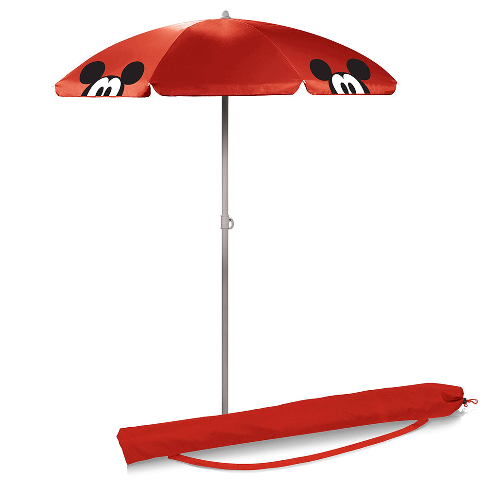 Picnic Time Family of Brands Mickey Mouse Portable Beach Umbrella 5.5 ft <br> 米奇老鼠便攜式沙灘傘