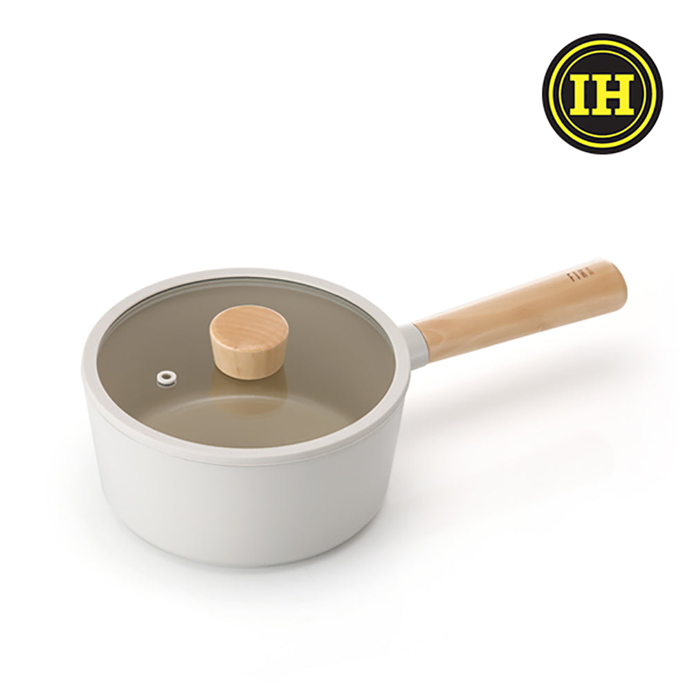 Neoflam FIKA系列 18cm 鑄造不沾單柄湯鍋 (預購-10月底到貨)<br>18cm Nonstick Cast Stock Pot (Glass Lid Included)