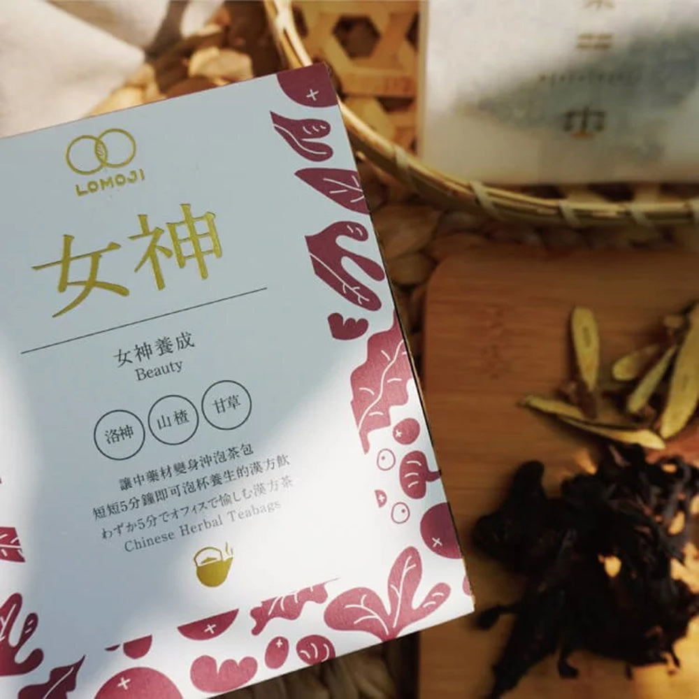 LOMOJI Chinese Herbal Teabags – Beauty (10 bags | box) <br>樂木集漢方養生茶 - 女神