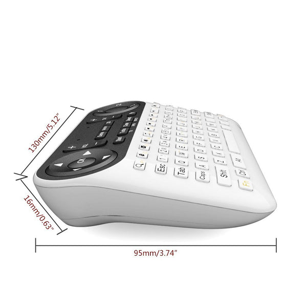 Gemtune Wireless Mini Keyboard & Mouse Remote Control for Android Smart TV Box G Box HTPC Mini PC Windows iOS MAC Linux PS3 Xbox 360(F6)