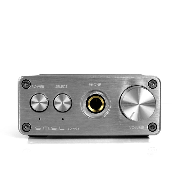 SMSL SD793-II PCM1793 DIR9001 DAC Digital Audio Decoder amplifier - Silver