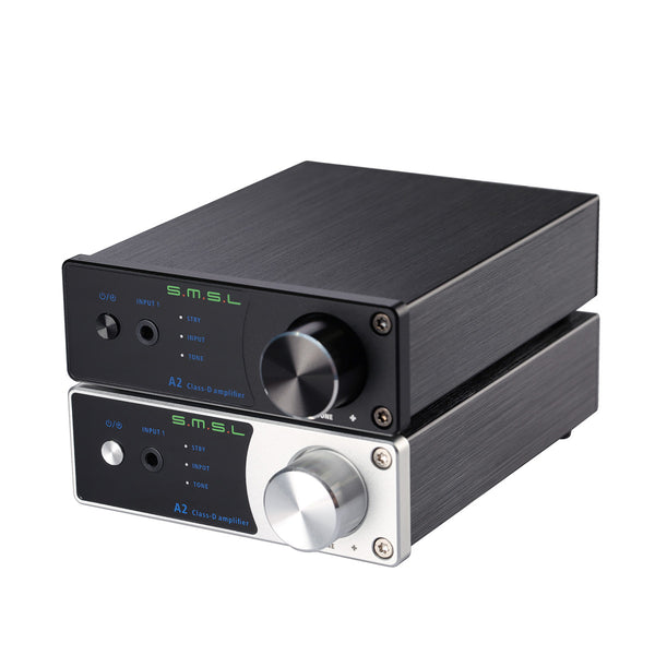 SMSL A2 Audio Digital Amplifier ,support 2 RCA Inputs and 3.5mm Headphone Jack Input