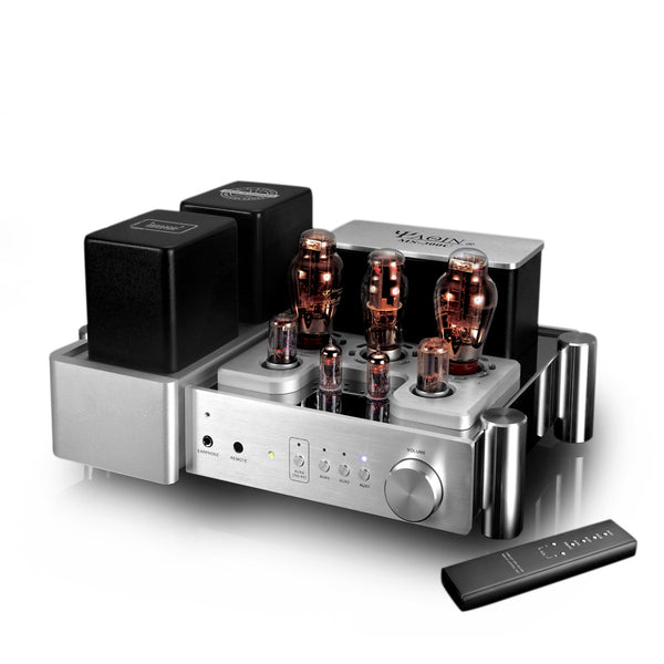 YAQIN MS-300C 300B Class A Single Ended Integrated +Pure Post-stage Tube amplifier with Remote Control. Headphone Output Available