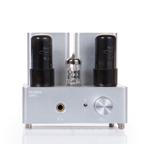 Gemtune APPJ PA1502A 6N4+6P6P tube headphone amplifier (Silver)
