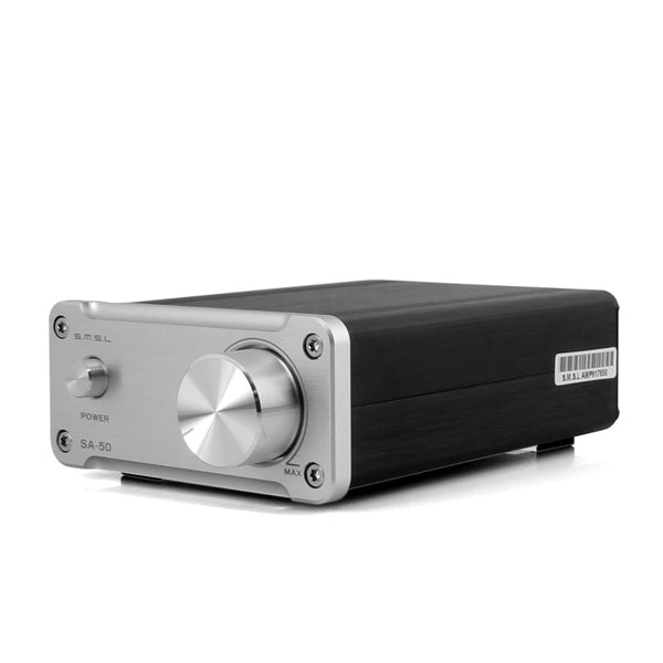 SMSL SA-50 50Wx2 TDA7492 T-AMP Hi-fi Digital Power Amplifier + Power Adapter (Silver)