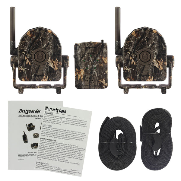 Gemtune Bestguarder 433MHz 328ft Wireless Motion Detector Alarm SET System for hunting/camping/home security surveillance (SY-007A 2 Sensor +1 receiver)