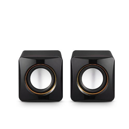 AL-202, High-fidelity USB Acoustics System, Powered by USB, for Laptops and Desktops, Cube Speakers