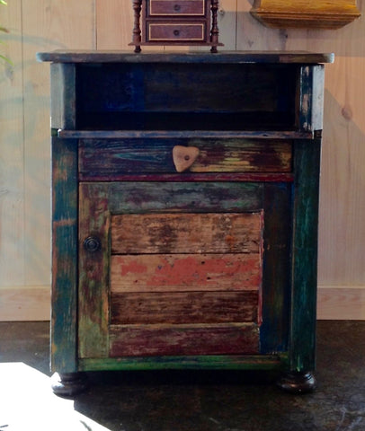 SOLD! Reclaimed Wood Side Table