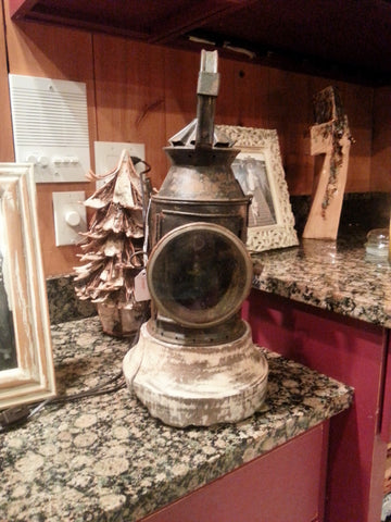 SOLD!  Antique Lantern Light