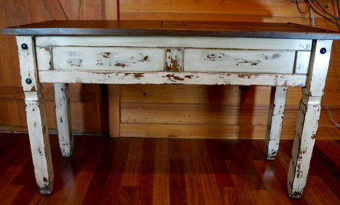 Rustic Distressed Farmhouse Sofa Table, Media Table, Rustic Console Table