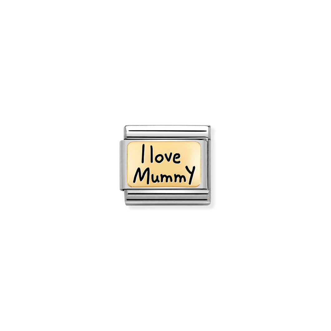 Nomination Gold I Love Mummy Plate Charm - Product Code - 030166-02