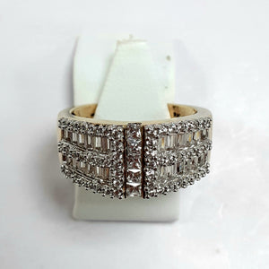9ct Yellow Gold Hallmarked Ladies Cubic Zirconia Ring - Product Code - L764