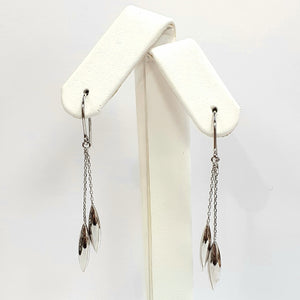 9ct White Gold Hallmarked Earrings - Product Code - C418