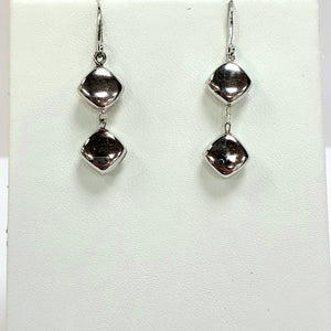 9ct White Gold Hallmarked Earrings - Product Code - AX54