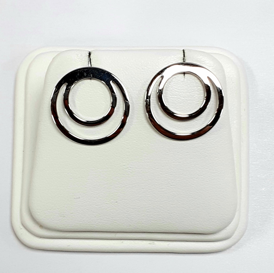9ct White Gold Hallmarked Earrings - Product Code - VX413