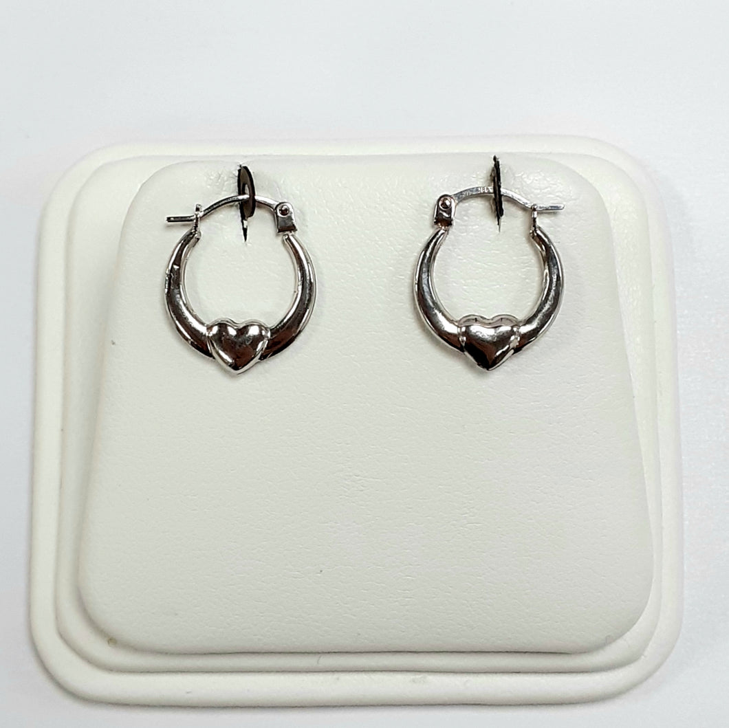 9ct White Gold Hallmarked Earrings - Product Code - VX999