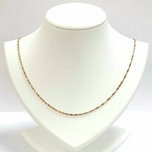 9ct Yellow Gold Hallmarked Chain - Product Code - VX13