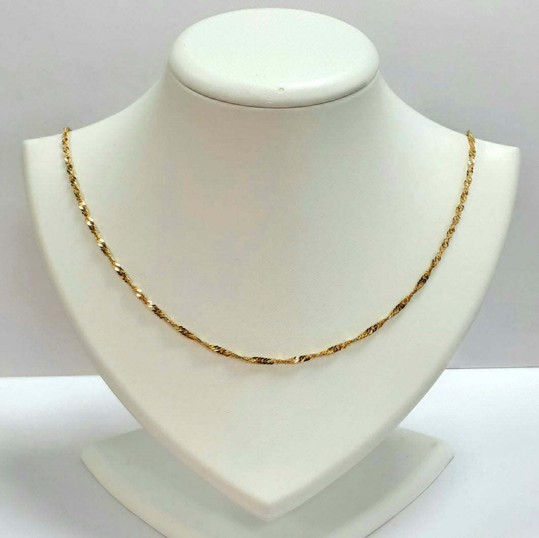 9ct Yellow Gold Hallmarked Chain - Product Code - VX721