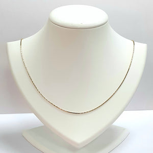 9ct Yellow Gold Hallmarked Chain - Product Code - U722