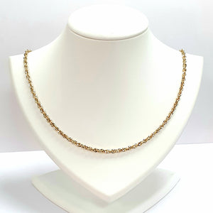 9ct Yellow Gold Hallmarked Chain - Product Code - VX349