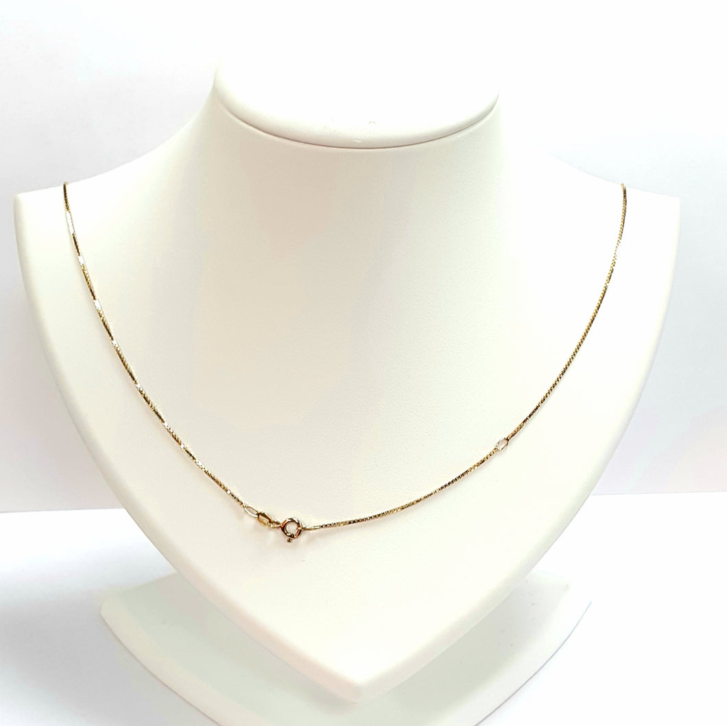 9ct Yellow Gold Hallmarked Chain - Product Code - U513