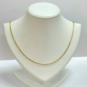 9ct Yellow Gold Hallmarked Chain - Product Code - VX957
