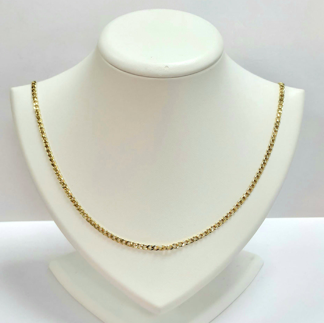 9ct Yellow Gold Hallmarked Chain - Product Code - VX932