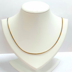 9ct Yellow Gold Hallmarked Chain - Product Code - U705