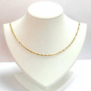 9ct Yellow Gold Hallmarked Chain - Product Code - VX348