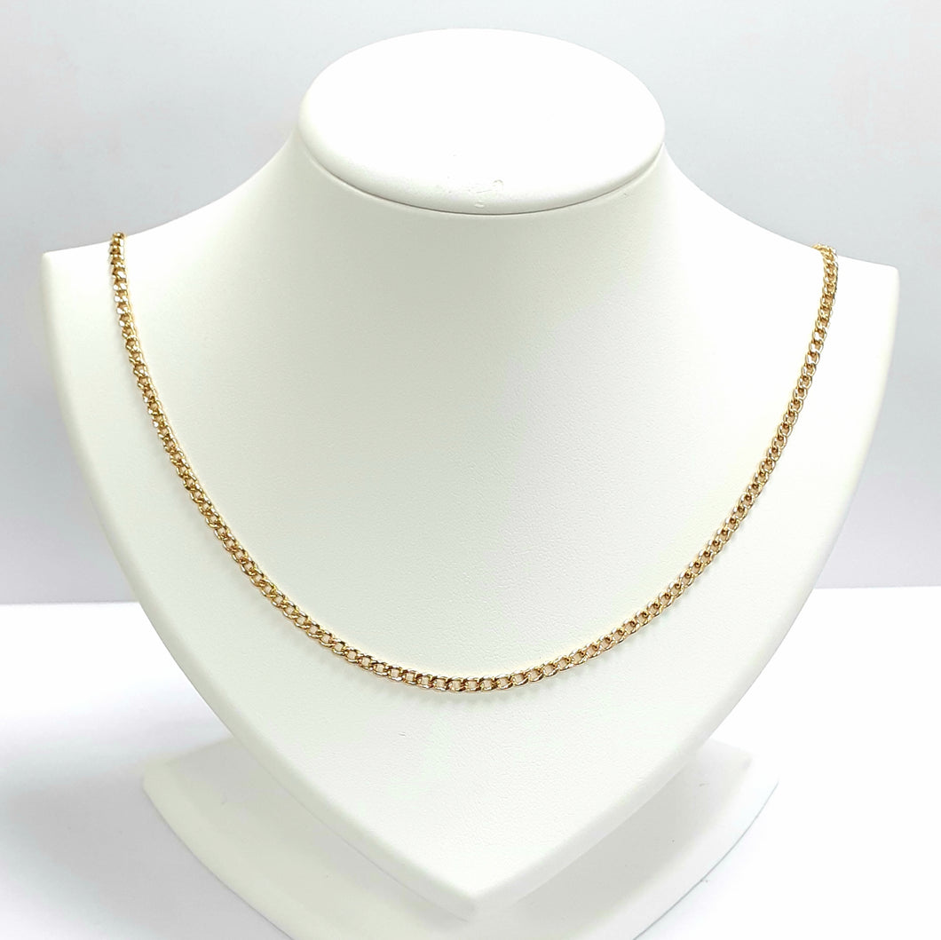 9ct Yellow Gold Hallmarked Chain - Product Code - VX934