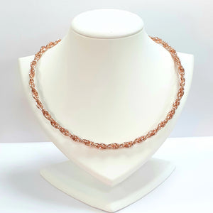 Rose Gold On Silver Hallmarked Necklet - Product Code - J606
