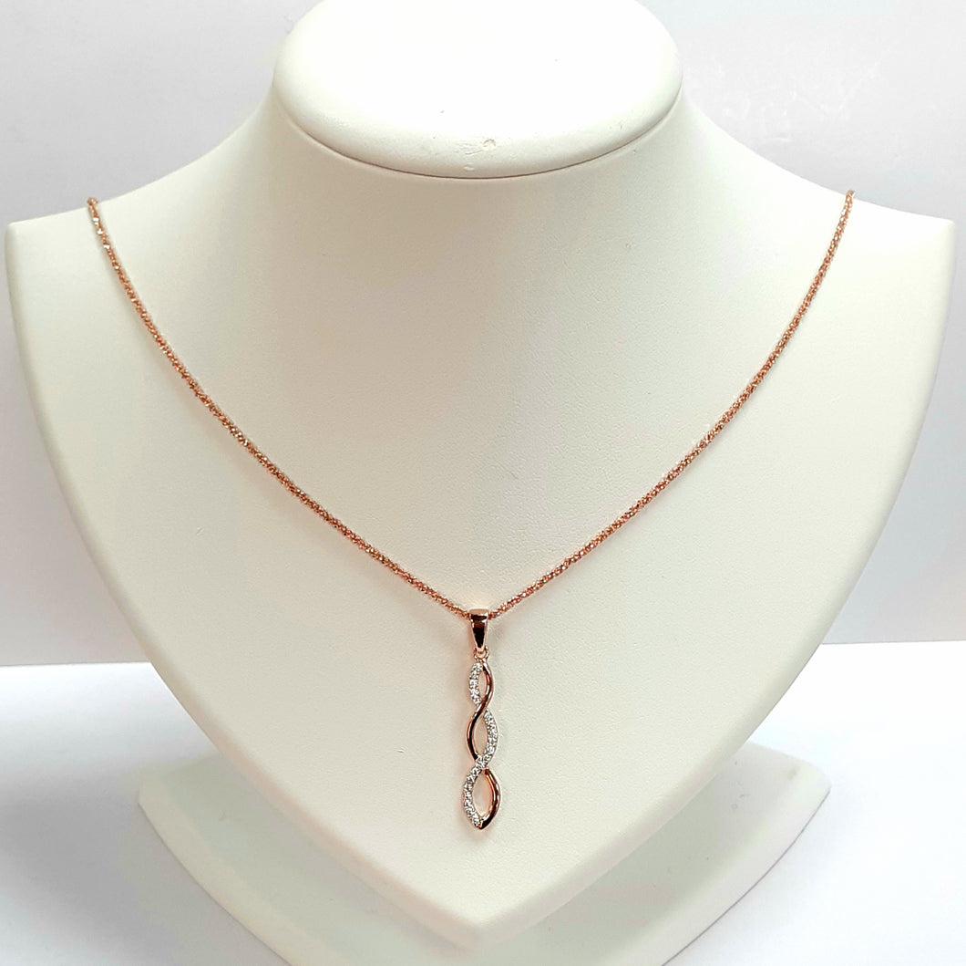 Rose Gold On Silver Hallmarked Pendant - Product Code - VX150 & I558