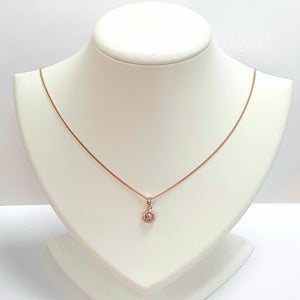 Rose Gold On Silver Hallmarked Necklet - Product Code - L373 & L257
