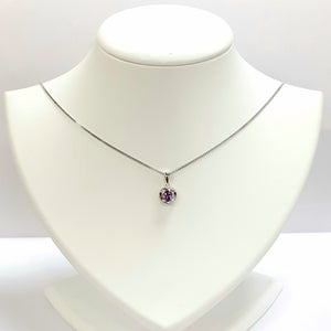 Silver Gold Amethyst Pendant - Product Code - A576
