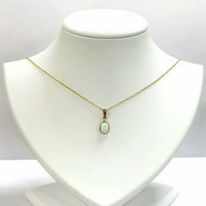 9ct Yellow Gold Opal & Cubic Zirconia Pendant - Product Code - C835 & VX946