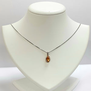 Silver Citrine Pendant - Product Code - A540