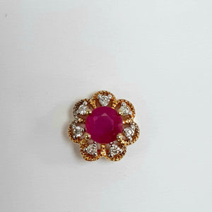 9ct Yellow Gold Ruby & Diamond Pendant - Product Code - AA110