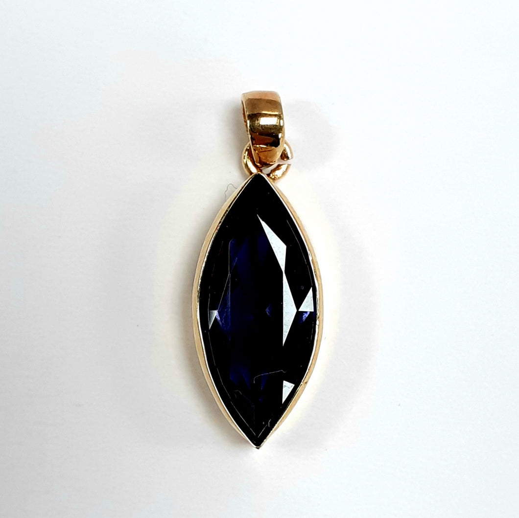 9ct Yellow Gold Iolite Pendant - Product Code - R74