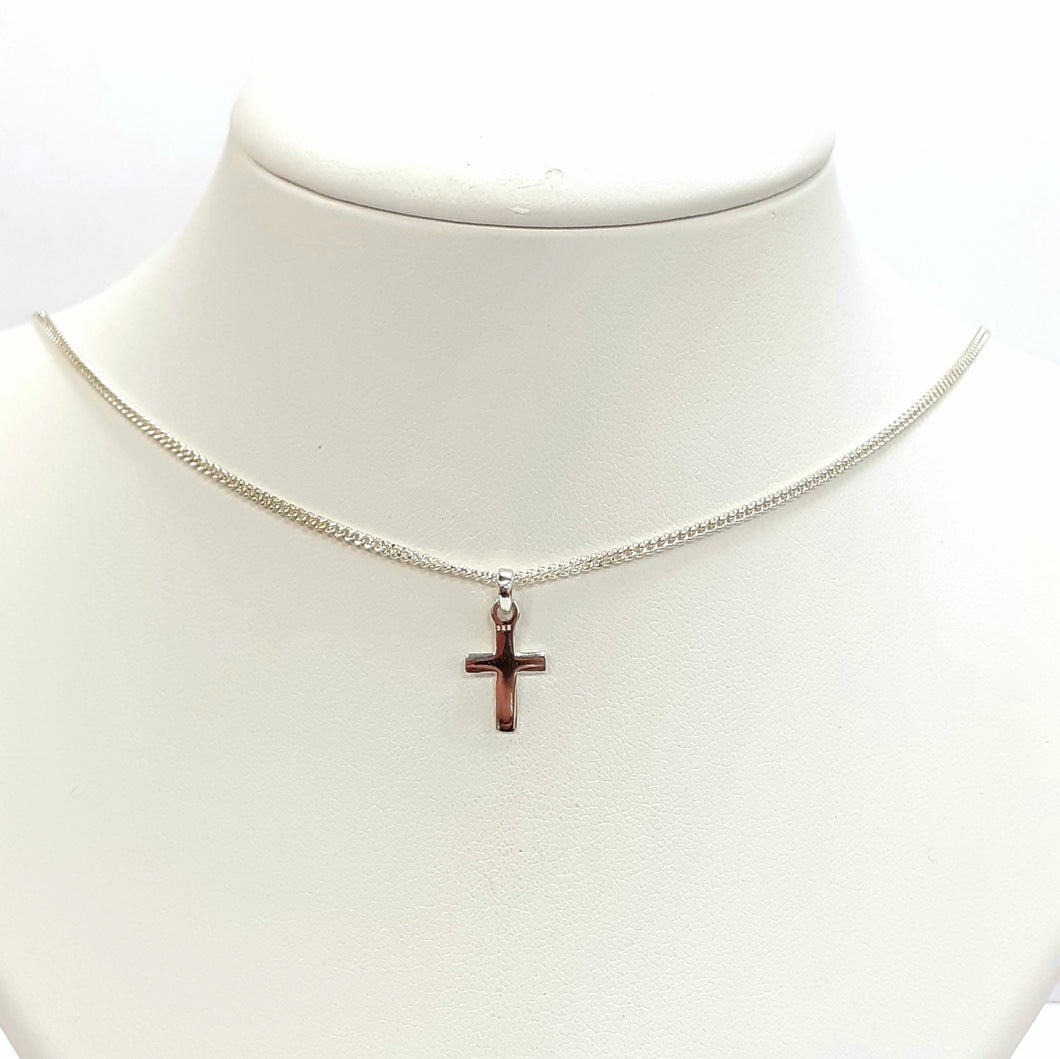 Silver Cross Chain Hallmarked 925 - Product Code - L393 & L150